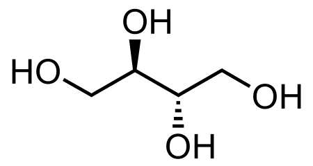 Erythritol Structure